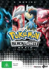 Pokemon (Black & White Movie Collection) (4 Movies) Dvd - Like New & FREE POST