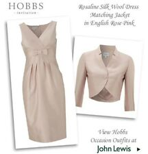 "BEAUTIFUL SHELL PINK ""ROSALINE"" DRESS SUIT FROM HOBBS UK12 RRP £400.00"