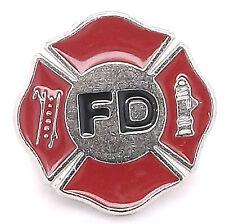 "Fire Department Logo Decorative Snap Cap 1"" 1265-13 by Stecksstore"
