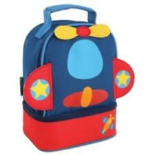 Stephen Joseph Airplane Lunch Pals Insulated Lunch Box with Bottom Compartment