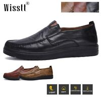 Hot Mens Casual Driving Loafers Leather Moccasins Slip On Office Shoes Plus Size