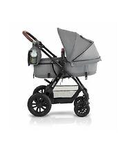 Kinderkraft Kinderwagen Kombikinderwagen 3 in 1 mit Babyschale grau,