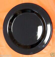 HENN POTTERY BLACK ONYX  JEWELWARE 10 INCH DINNER PLATE ELEGANT DINNERWARE USA