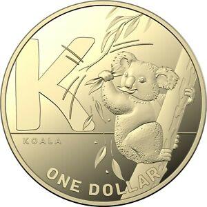 2021 The Great Aussie Coin Hunt 2  $1 Alphabet Letter K for Koala (AP)