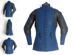 Medieval Thick Padded Chain Mail Gambeson suit of armor quilted costumes theater