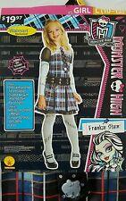 New Monster High (Frankie Stein) Costume Girl size L (10-12)
