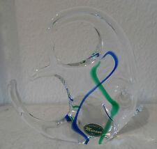 Sehr dekorativer, großer Murano Glas Fisch org. Herstellerlabel 70er (A502)