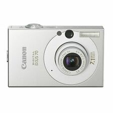 Canon IXUS 70 7.1MP Digital Camera Silver with battery charger and cable