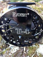 "Raven T4 Float Reel, Centerpin Reel 4 3/4"" Jet Black Finish, New! Free Pouch!"