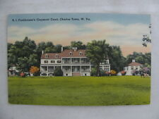 Postcard USA VS Funkhouser's Claymont Court Charles Town West Virginia 1950