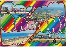 BACIONI DA BIBIONE - VEDUTINE (VENEZIA) 1990 AFFRANCATA 650 LIRE STADIO FERRARIS