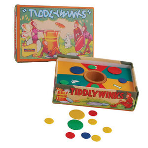 VINTAGE 1940S STYLE TIDDLYWINKS GAME FAMILY FUN GREAT GIFT