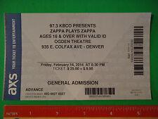 1 Concert Ticket ~ DWEEZIL ZAPPA Play Frank ~ Ogden Theatre, Denver Feb 14, 2014