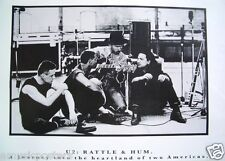 "U2 ""Rattle & Hum"" Poster - Young Shot Of The Group Sitting In Recording Studio"