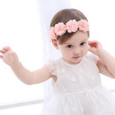 Cute Baby Pink Headband Flower Bows Girls Newborn Elastic Hair Band Turban Gift
