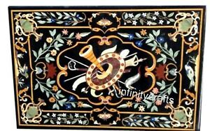 Beautiful Inlay Art Hallway Table Top Marble Dining Table Size 36 x 60 Inches