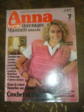 Anna - Burda Ouvrages Manuels N°7 1981 Dentelle aux fuseaux Gobelin Broderie