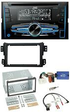 JVC MP3 USB CD 2DIN Lenkrad Autoradio für Opel Agila B Suzuki Splash 2008-2014