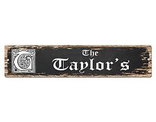 SP0450 The TAYLOR'S Family name Plate Sign Bar Store Cafe Home Chic Decor