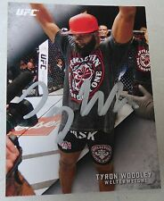 Tyron Woodley Signed UFC 2015 Topps Knockout Card #58 Autograph 183 171 167 156