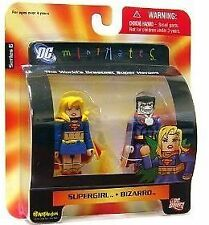 DC Direct Universe MiniMates 6 Supergirl & Bizarro Mini Figure 2pk Toys