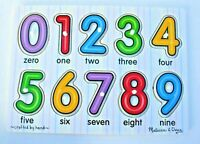 Melissa & Doug Number Puzzle / Wooden Peg Puzzle  NEW without seal / 10 pieces