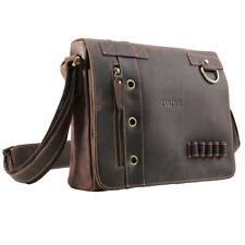 """Retro Men's Real Leather 13"""" Laptop Bag Messenger Shoulder Bag Crossbag Satchel"""