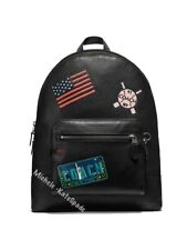 $650 NWT Coach West Men's Backpack with Patches F23251