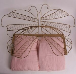 New Pottery Barn Kids Gold Butterfly cornice & pink tulle sheers