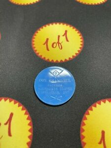 1960 Armour Hot Dog Coin Del Crandall Blue Milwaukee Braves GF24