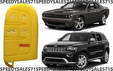 Yellow Rubber Smart Key Fob Remote Case Cover For Jeep Dodge Chrysler New USA