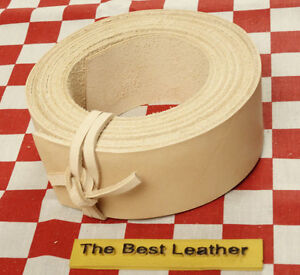 """Vegetable Tan Tooling Cowhide Leather Blanks, Belt Strap 75"""" x 1"""", 9 to 10 oz"""