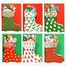 150 Die-cut Christmas Stocking Gift Card Filled with Presents XG0022