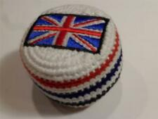 NEW HANDWOVEN KNIT BRITISH FLAG HACKY SACK FOOTBAG FROM MADE IN GUATEMALA