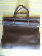 "Pilgrim Brown Leather Log Carrier 28"" x 16.5"" Pre Owned"