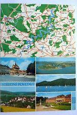 DOPPELKARTE Landkarte, Stredni Povltavi, Zusammenschluss v.Gemeinden Prag-West