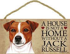 Jack Russell Terrier Wood Dog Sign Wall Plaque Photo Display A House Is Not A.