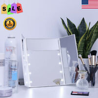 3X/2X/5X Magnifying Lighted Makeup Mirror 8 LED Vanity Desktop Cosmetic Portable