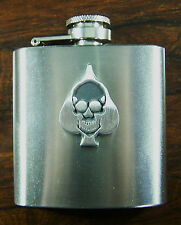 ACE OF SPADES 3oz Stainless Hip Flask FREE UK POST Music Rock skull death
