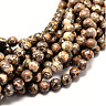 "16"" Natural Leopardskin Round Gemstone 4mm 6mm 8mm Loose Beads Jewellery Making"