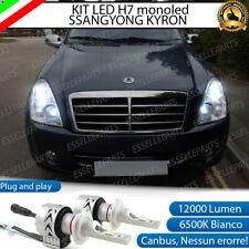 KIT LED H7 SSANGYONG REXTON 6500K CANBUS XENON 12000LM LUMEN MONO LED