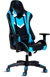 Executive Office Chair Sports Red Racing Gaming Swivel PU Leather Computer Desk