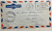 1953 French Army PO In VietNam Wars Airmail Cover to Paris France