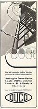 W2564 DUCO - Smalti a base sintetica DULOX - Pubblicità 1938 - Old advertising