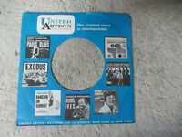 UNITED ARTISTS ALBUMS LOUIS ARMSTRONG   45 record company sleeve only 45