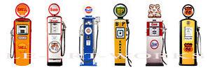 6 VINTAGE RETRO SHELL ESSO GULF ROUTE BP GAS PUMP MAN CAVE CANVAS ART PRINT 6FT