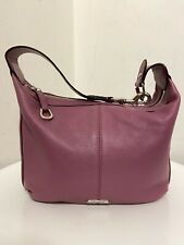 Coach Raspberry Small Handbag Slouch Leather New