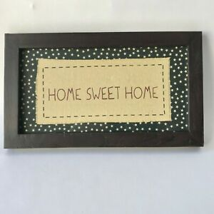 HOME SWEET HOME Wall Plaque Americana Country Farmhouse Wood Frame Patriotic