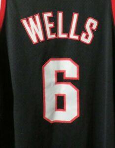 Nike Team NBA Portland Trailblazers Bonzi Wells Black Rewind Jersey Size XXL