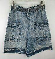Vintage 1980s  High Waist Acid Wash Denim Shorts Womens Sz Small Cherokee USA